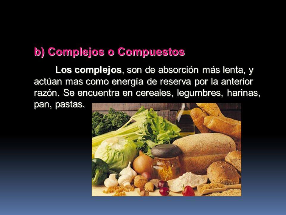 b) Complejos o Compuestos