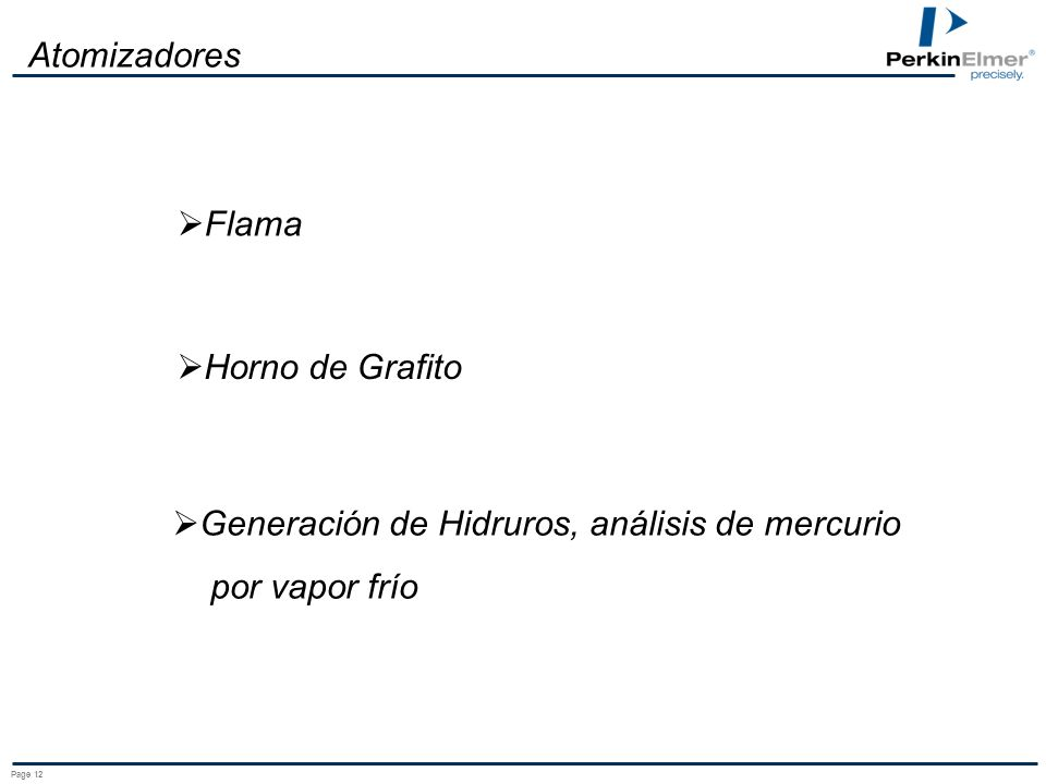 Generación de Hidruros, análisis de mercurio por vapor frío