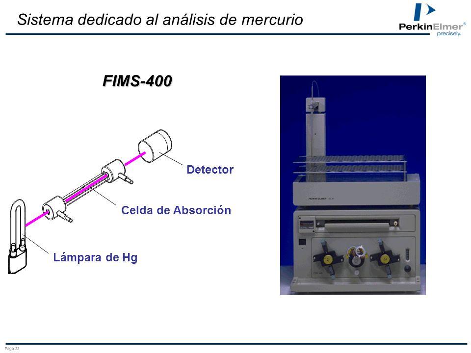 Sistema dedicado al análisis de mercurio