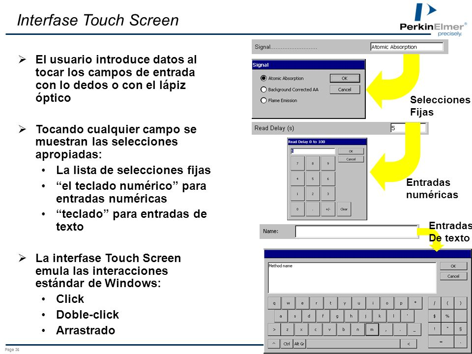 Interfase Touch Screen