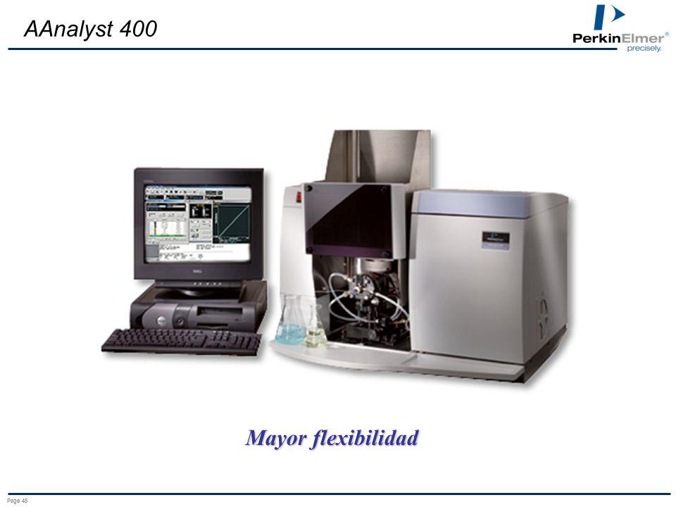 AAnalyst 400 Mayor flexibilidad Page 45