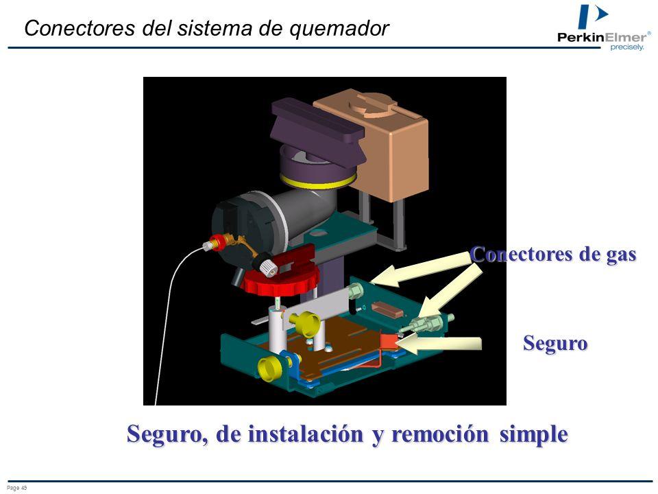 Seguro, de instalación y remoción simple