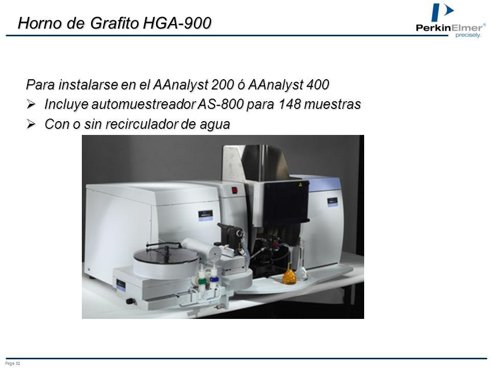 Horno de Grafito HGA-900 Para instalarse en el AAnalyst 200 ó AAnalyst 400. Incluye automuestreador AS-800 para 148 muestras.
