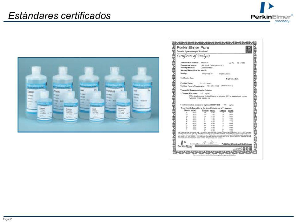 Estándares certificados