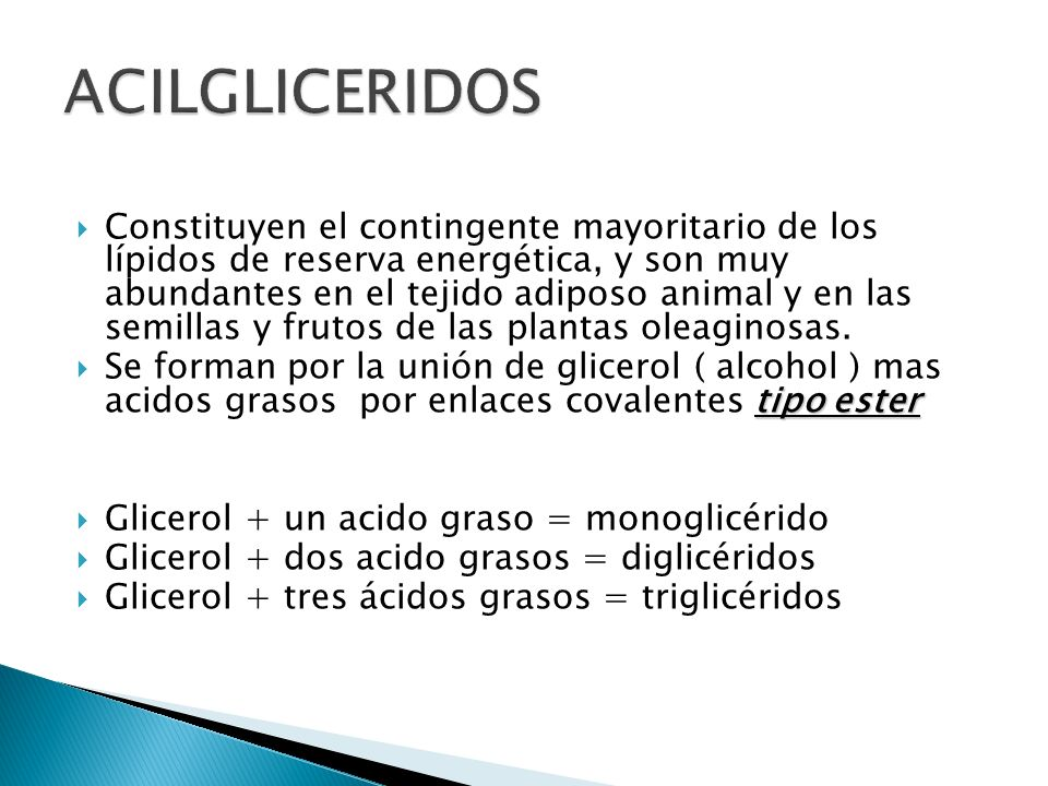 ACILGLICERIDOS