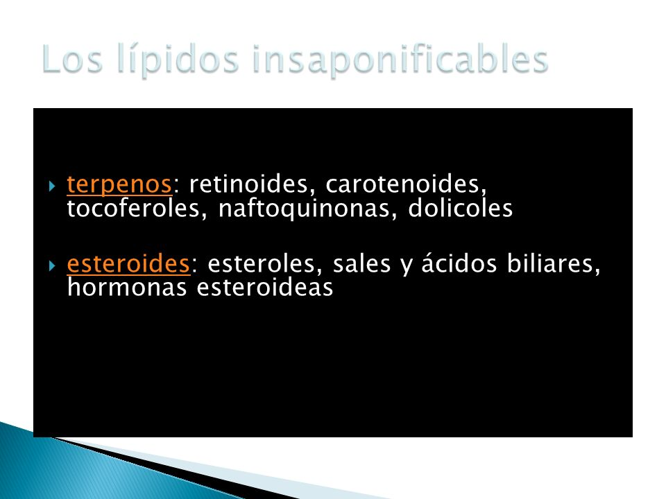 Los lípidos insaponificables