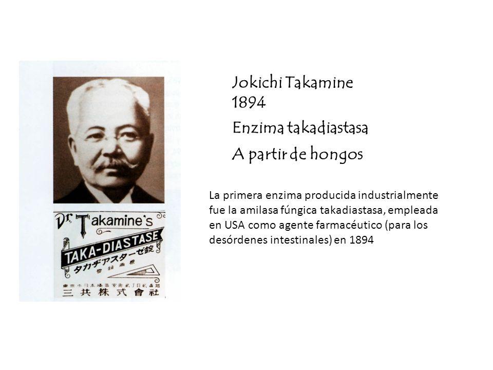 Jokichi Takamine 1894 Enzima takadiastasa A partir de hongos