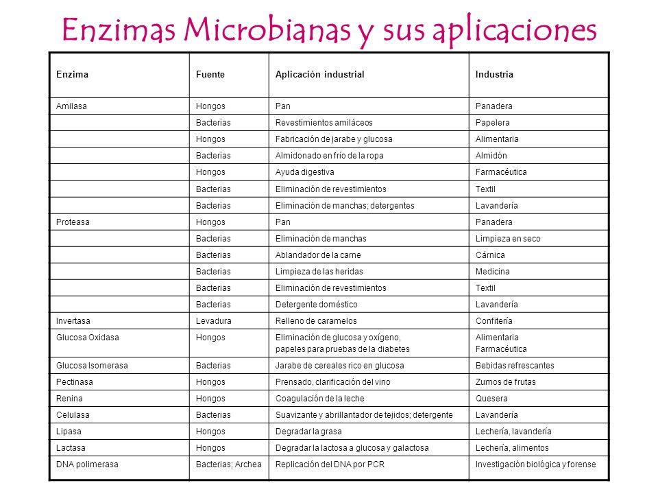 Enzimas Microbianas y sus aplicaciones