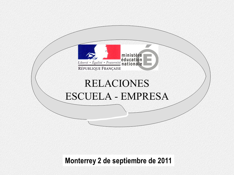 RELACIONES ESCUELA - EMPRESA Monterrey 2 de septiembre de 2011