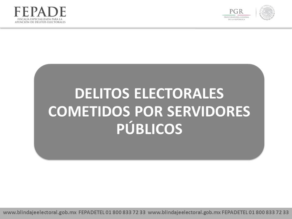 DELITOS ELECTORALES COMETIDOS POR SERVIDORES PÚBLICOS