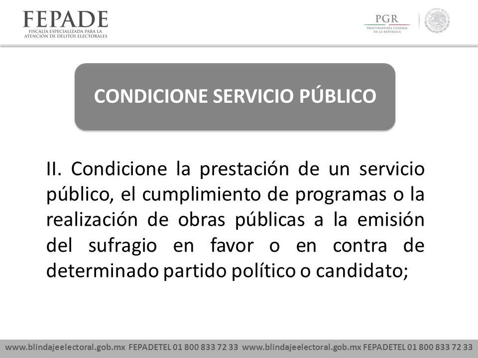 CONDICIONE SERVICIO PÚBLICO