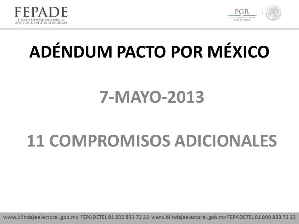 ADÉNDUM PACTO POR MÉXICO 11 COMPROMISOS ADICIONALES