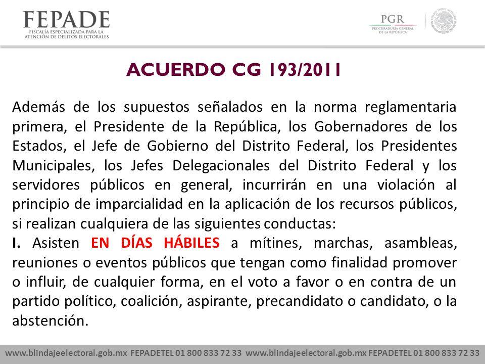 ACUERDO CG 193/2011