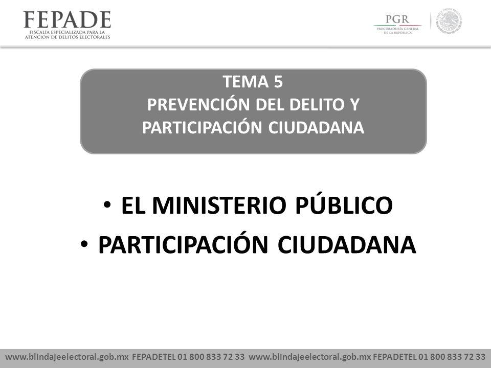 EL MINISTERIO PÚBLICO PARTICIPACIÓN CIUDADANA