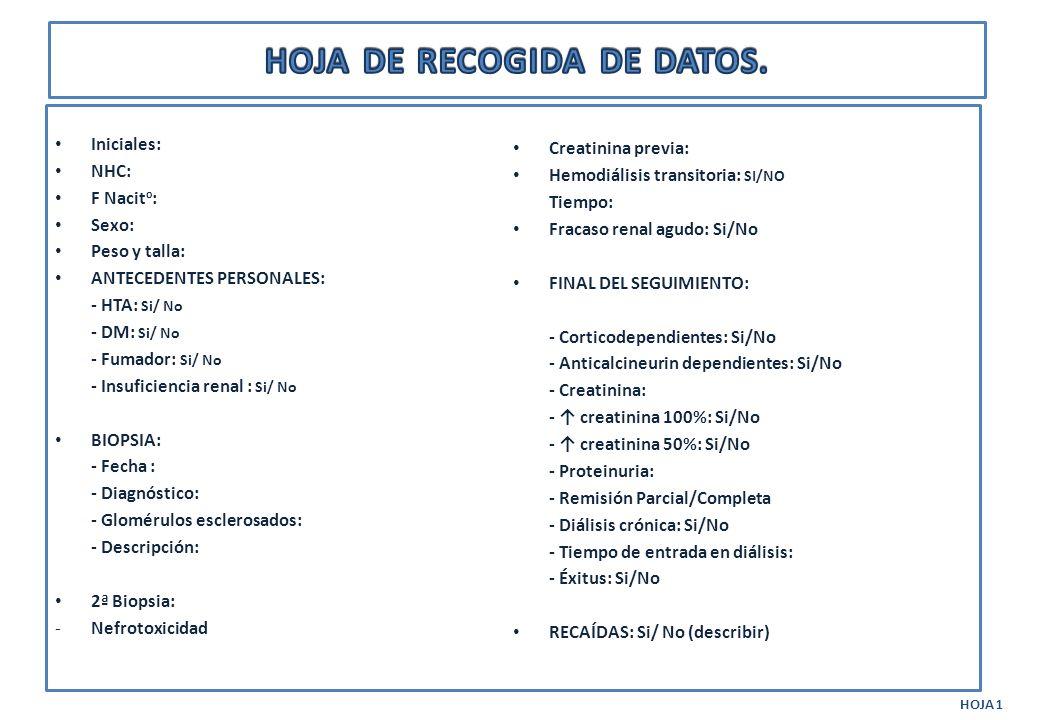 HOJA DE RECOGIDA DE DATOS.