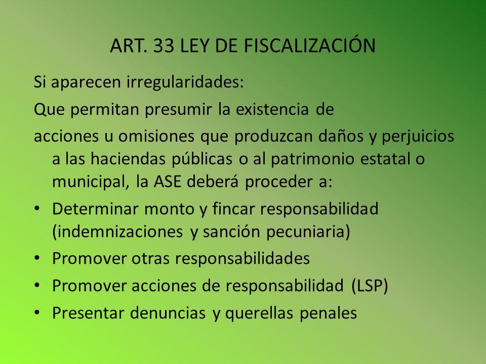 ART. 33 LEY DE FISCALIZACIÓN