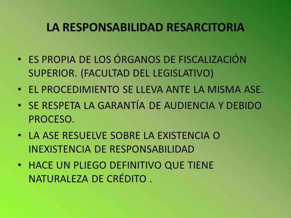 LA RESPONSABILIDAD RESARCITORIA