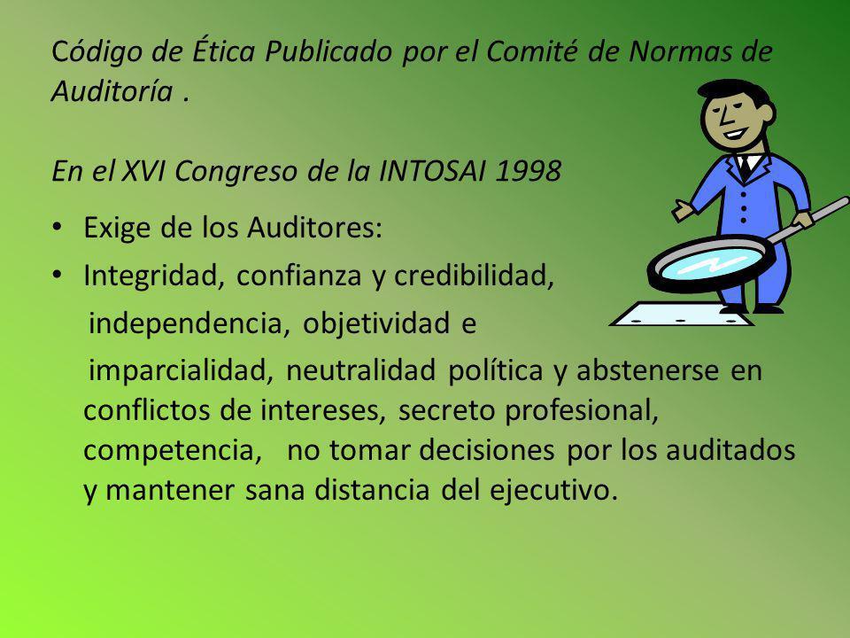 Código de Ética Publicado por el Comité de Normas de Auditoría