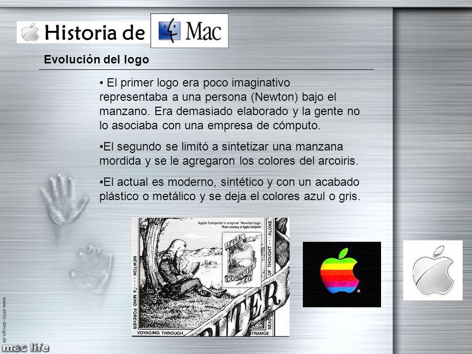 Historia de Mac Evolución del logo