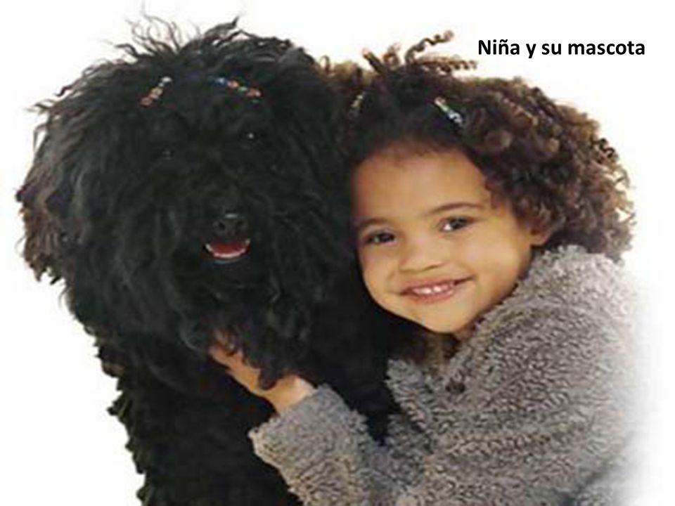 Niña y su mascota