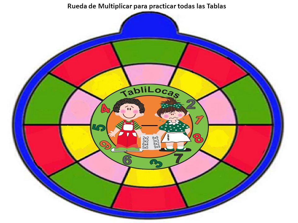 Rueda de Multiplicar para practicar todas las Tablas