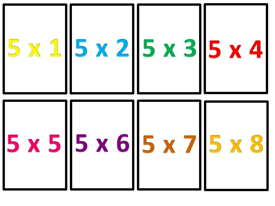 5 x 1 5 x 2 5 x 3 5 x 4 5 x 5 5 x 6 5 x 7 5 x 8
