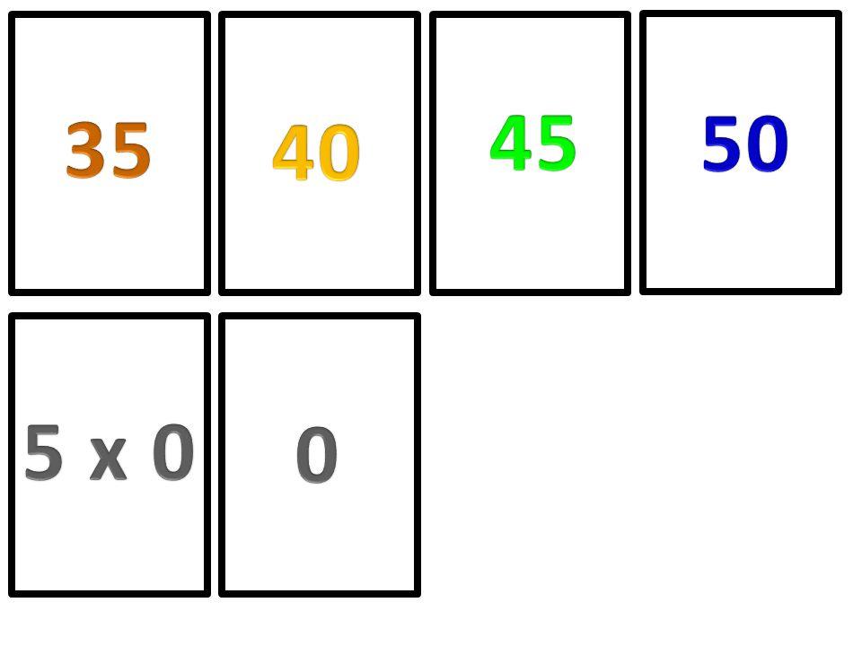 45 50 35 40 5 x 0