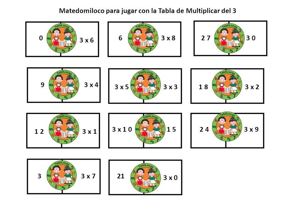 Matedomiloco para jugar con la Tabla de Multiplicar del 3