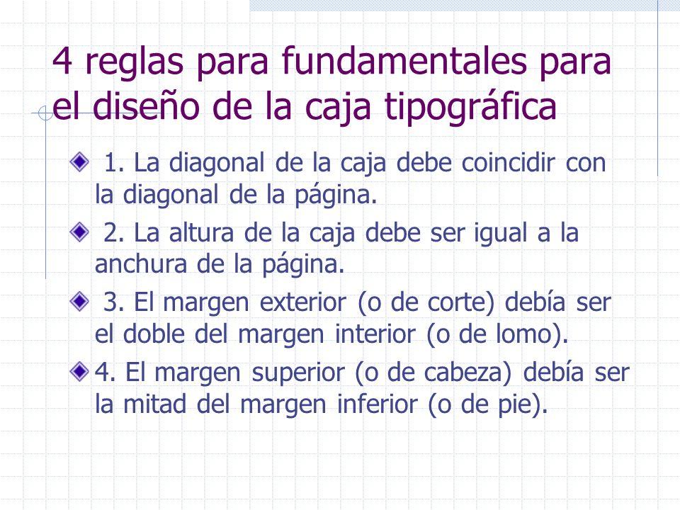 4 reglas para fundamentales para el diseño de la caja tipográfica