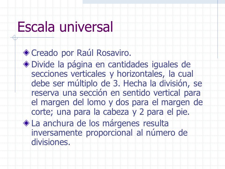 Escala universal Creado por Raúl Rosaviro.