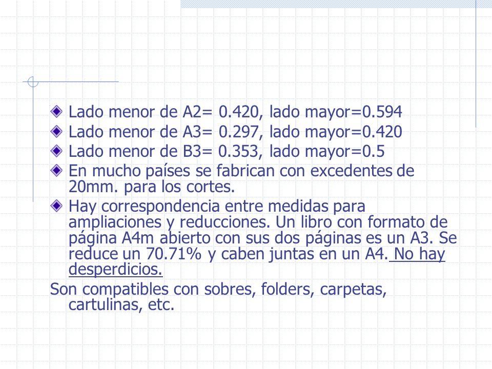 Lado menor de A2= 0.420, lado mayor=0.594
