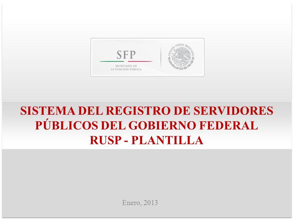 SISTEMA DEL REGISTRO DE SERVIDORES PÚBLICOS DEL GOBIERNO FEDERAL