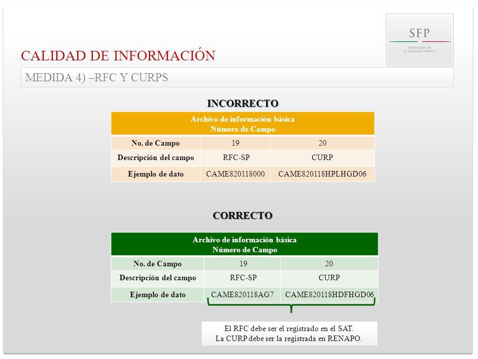 Archivo de información básica Archivo de información básica