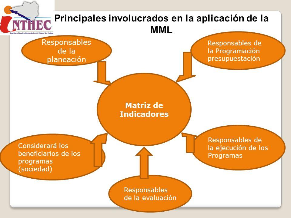 Principales involucrados en la aplicación de la MML