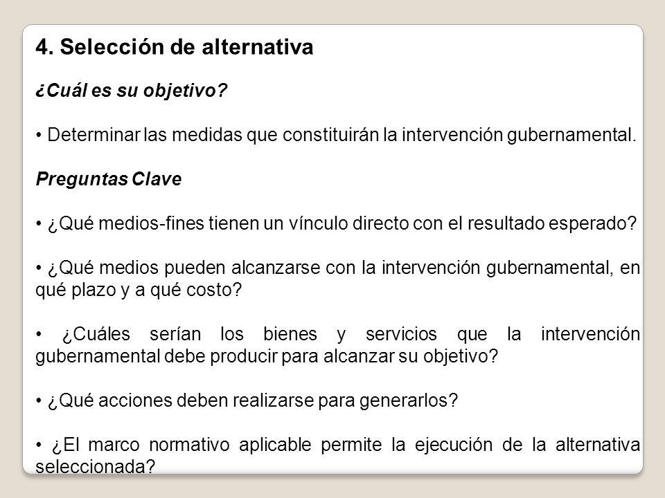 4. Selección de alternativa