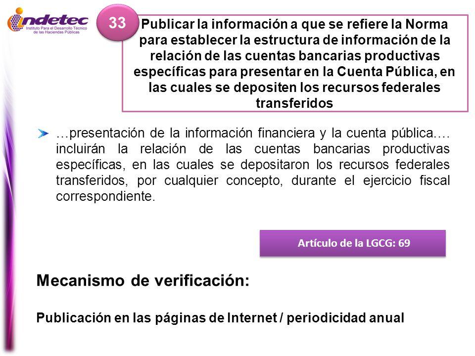Mecanismo de verificación: