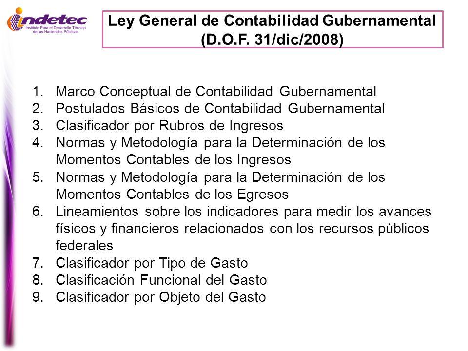 Ley General de Contabilidad Gubernamental (D.O.F. 31/dic/2008)