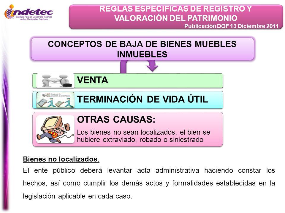 TERMINACIÓN DE VIDA ÚTIL OTRAS CAUSAS: