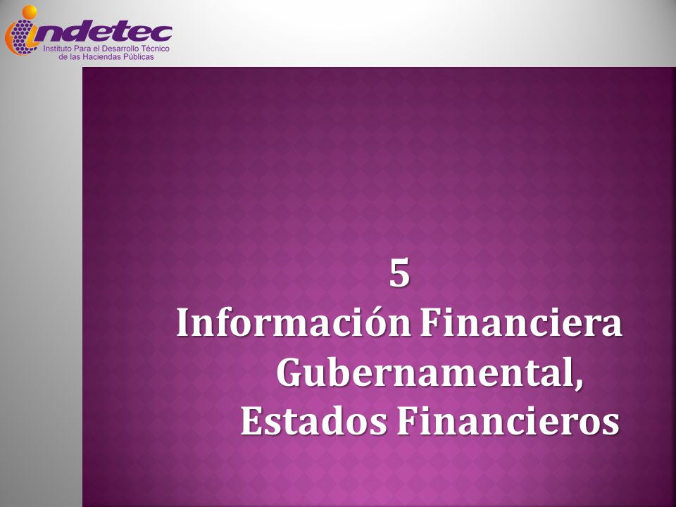 Información Financiera Gubernamental, Estados Financieros