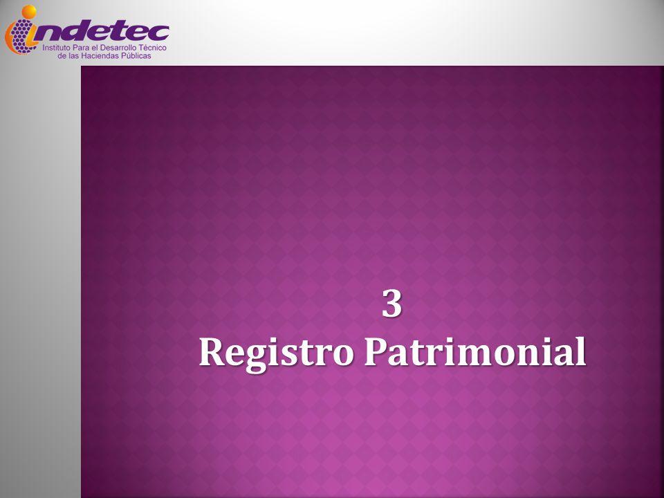 3 Registro Patrimonial