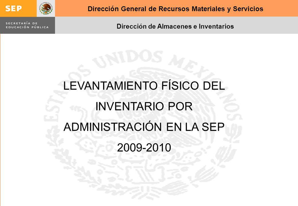 LEVANTAMIENTO FÍSICO DEL INVENTARIO POR ADMINISTRACIÓN EN LA SEP