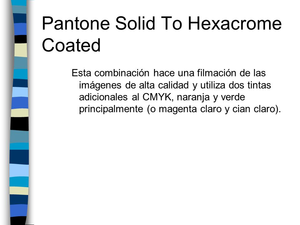 Pantone Solid To Hexacrome Coated