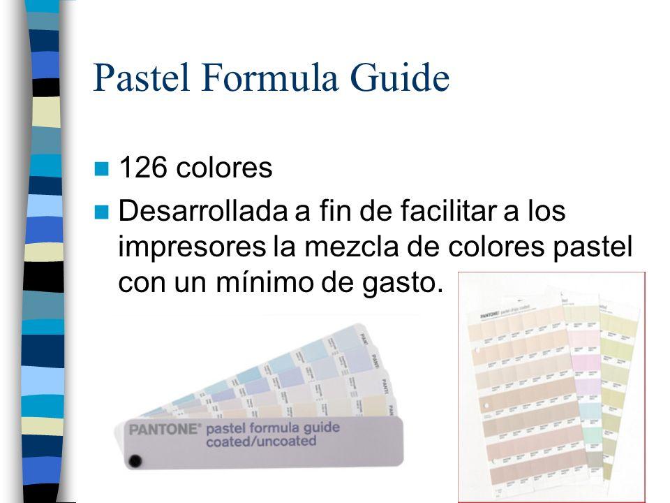 Pastel Formula Guide 126 colores