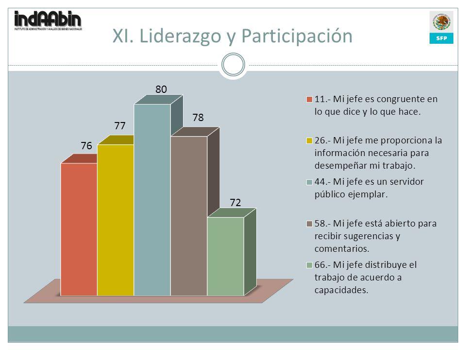 XI. Liderazgo y Participación