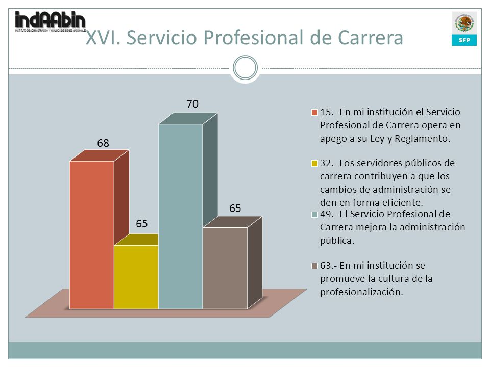 XVI. Servicio Profesional de Carrera