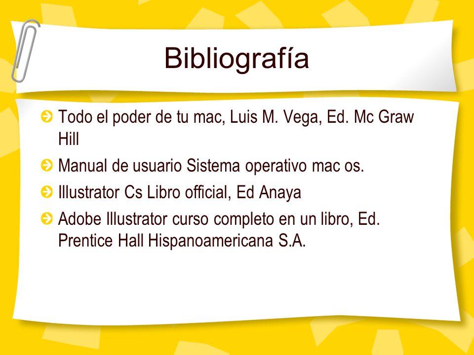 Bibliografía Todo el poder de tu mac, Luis M. Vega, Ed. Mc Graw Hill