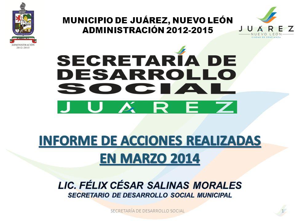 INFORME DE ACCIONES REALIZADAS EN MARZO 2014