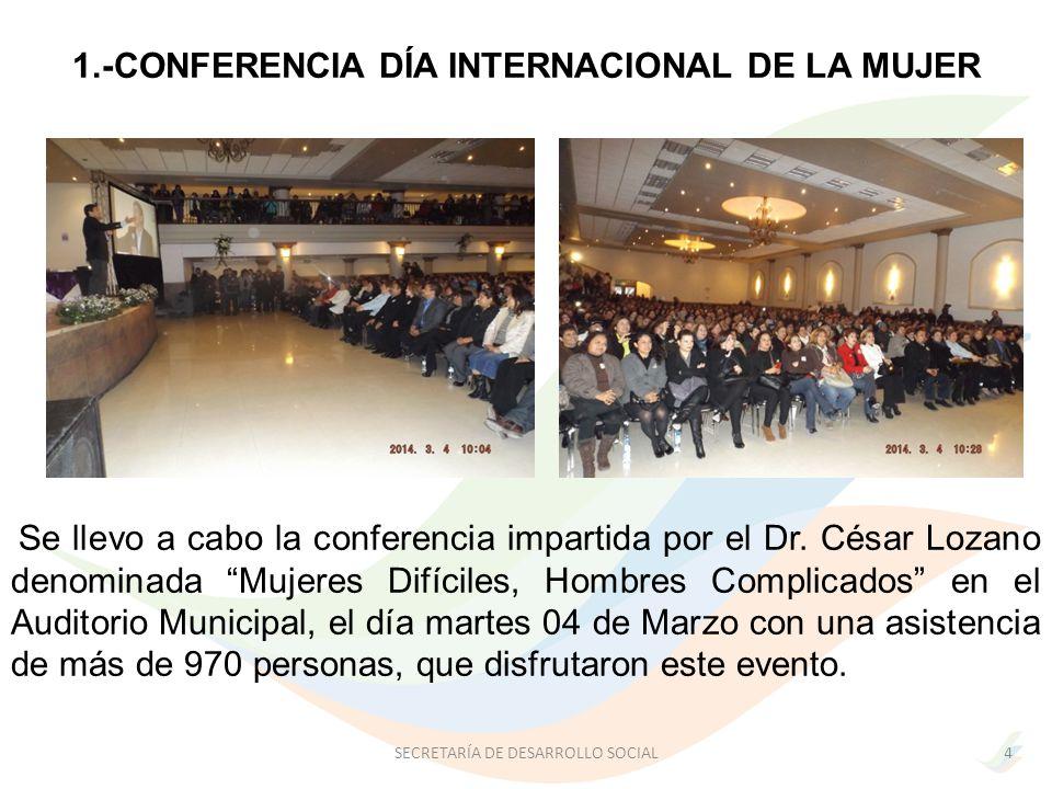 1.-CONFERENCIA DÍA INTERNACIONAL DE LA MUJER