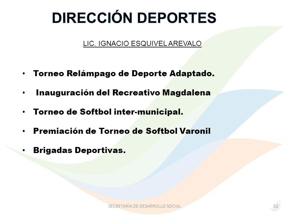 DIRECCIÓN DEPORTES Torneo Relámpago de Deporte Adaptado.
