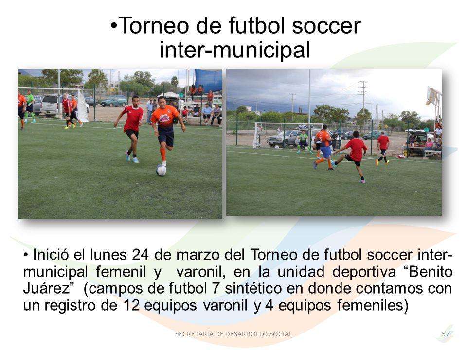 Torneo de futbol soccer inter-municipal